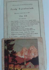 Programa cultural do Navio Principessa Maria que trouxe os imigrantes tiroleses em 1933.
