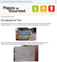 Restaurante Tirolês Pignatella, em Bento Gonçalves.