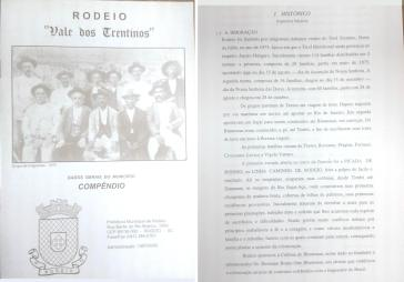 Compêndio sobre o município de Rodeio (1997).