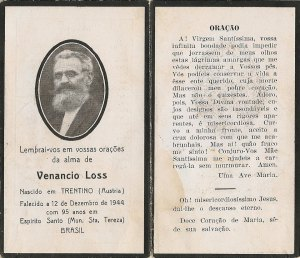 Imigrante austríaco do Tirol radicado em Santa Teresa.