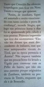 Reportagem do jornal O Trentino (Nova Trento).