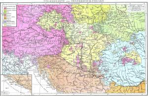 Mapa linguistico Austria-Hungria