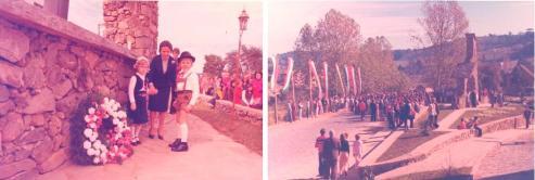 Momentos da inauguração do Monumento aos Tiroleses.