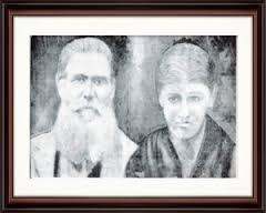 "Os ""patriarcas"" do bairro Santana, Bortolo Andrea Vitti e Maria Maddalena Saltori."