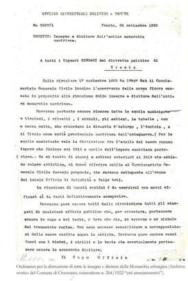 decreto proibindo simbolos tiroleses 1923
