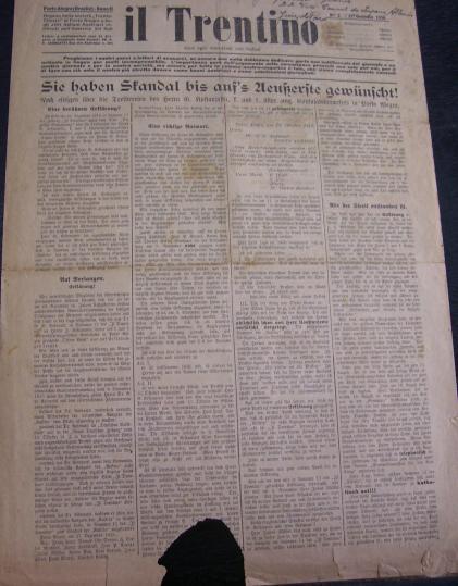 Jornal Il Trentino artigo em alemao