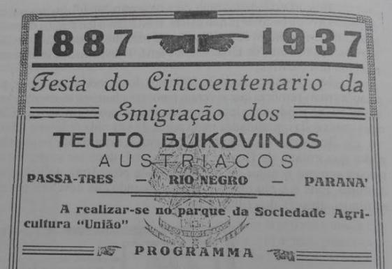 Bucovinos 1887 1937 Rio Negro