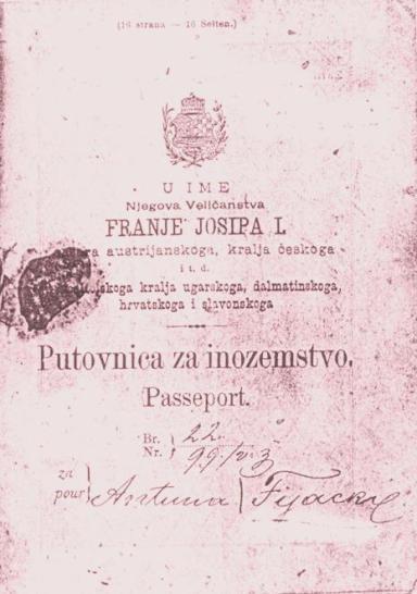 Passaporte croata Imperio Austro Hungaro