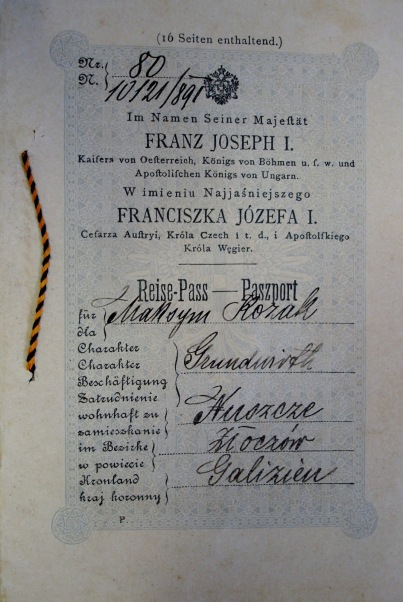 Passaporte polones Imperio Austriaco