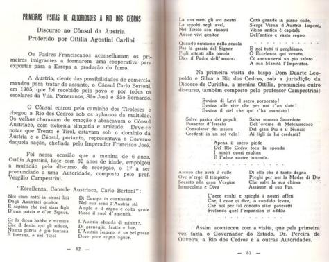 Rio dos Cedros - Poema tiroleses 1903 - 1a. ed.
