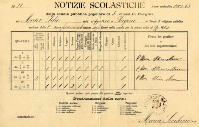 Scuola austriaca Moser Tirolo Pergine